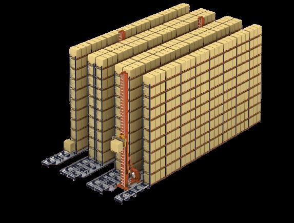 Mecalux automata raktár illusztráció