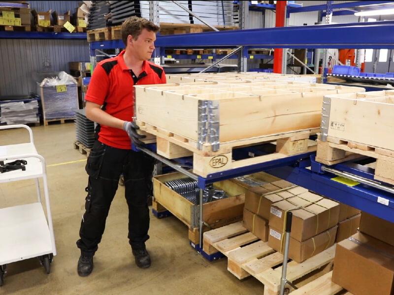 Kihúzható rakattartók - Okos megoldások az alacsonyabb tárolási költségekhez, gyorsabb kigyűjtéshez és a jobb munkakörnyezethez
